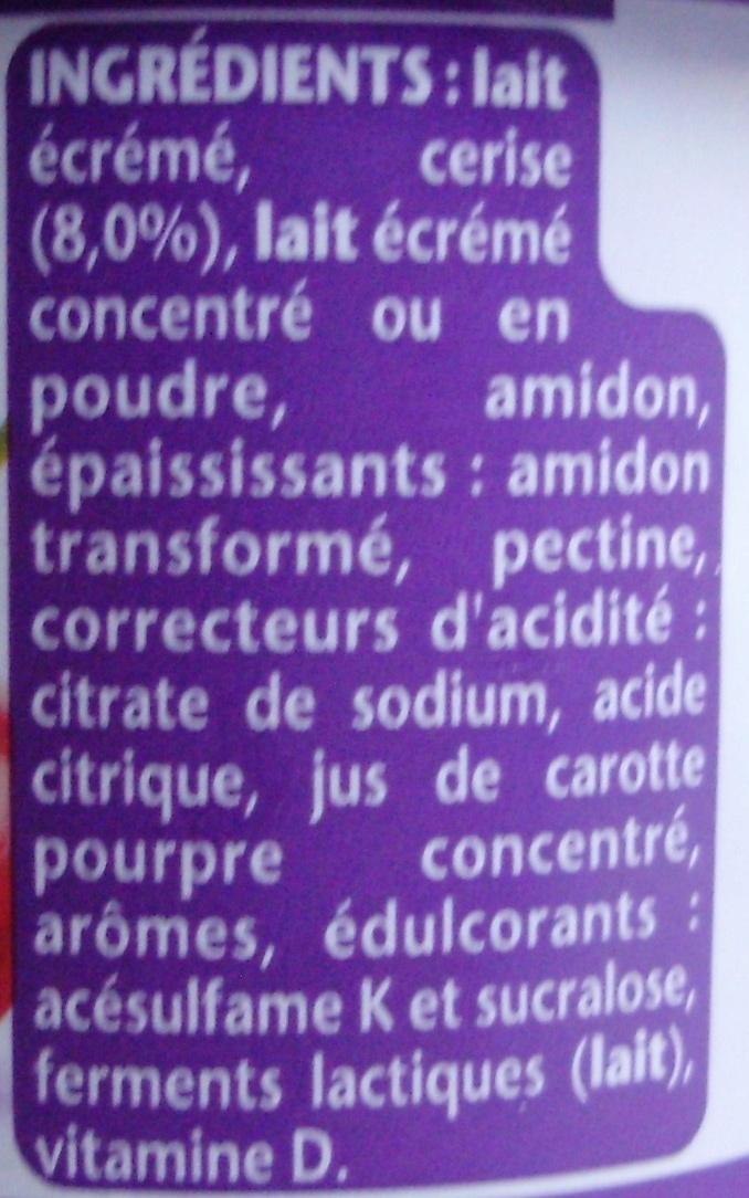 Taillefine aux Fruits (0 % MG, 0 % Sucres Ajoutés) Cerise - Ingredienti - fr