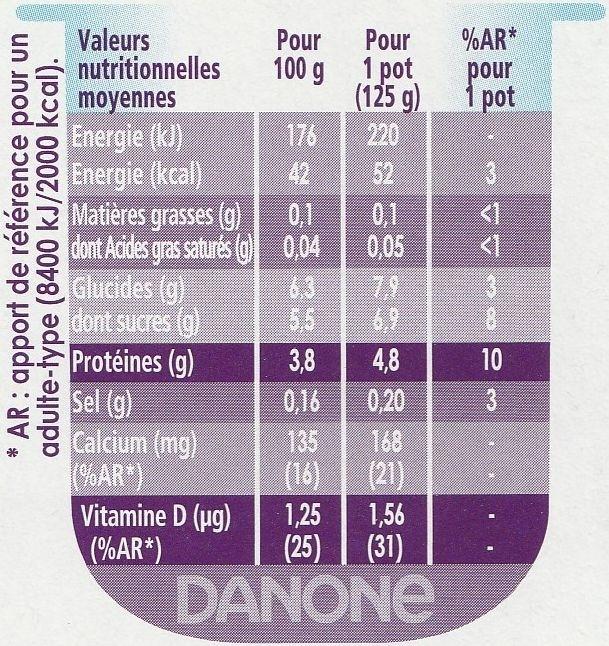 Taillefine aux Fruits jaunes - Informations nutritionnelles - fr