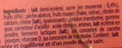 Danonino de Gervais Paille - Ingredients