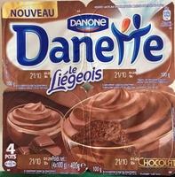 Danette (le Liégeois Chocolat) 4 pots - Product - fr