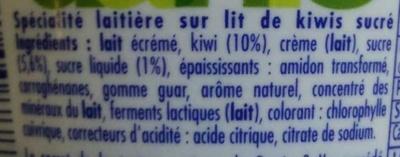 Danio Kiwi - Ingredients - fr