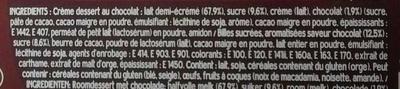 Danette Pop Chocolat billes Magix - Ingrédients