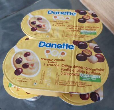 Creme dessert vanille et billes soufflées - Produit - fr