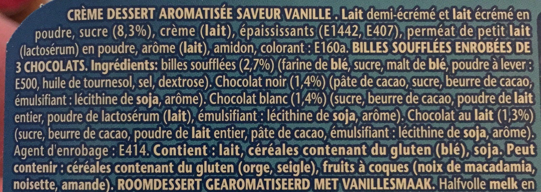 Creme dessert vanille et billes soufflées - Ingrédients - fr