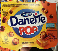 Danette Pop saveur Vanille Billes Choco Caramel Salé - Prodotto - fr