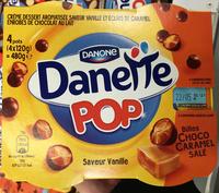 Danette Pop saveur Vanille Billes Choco Caramel Salé - Produit - fr