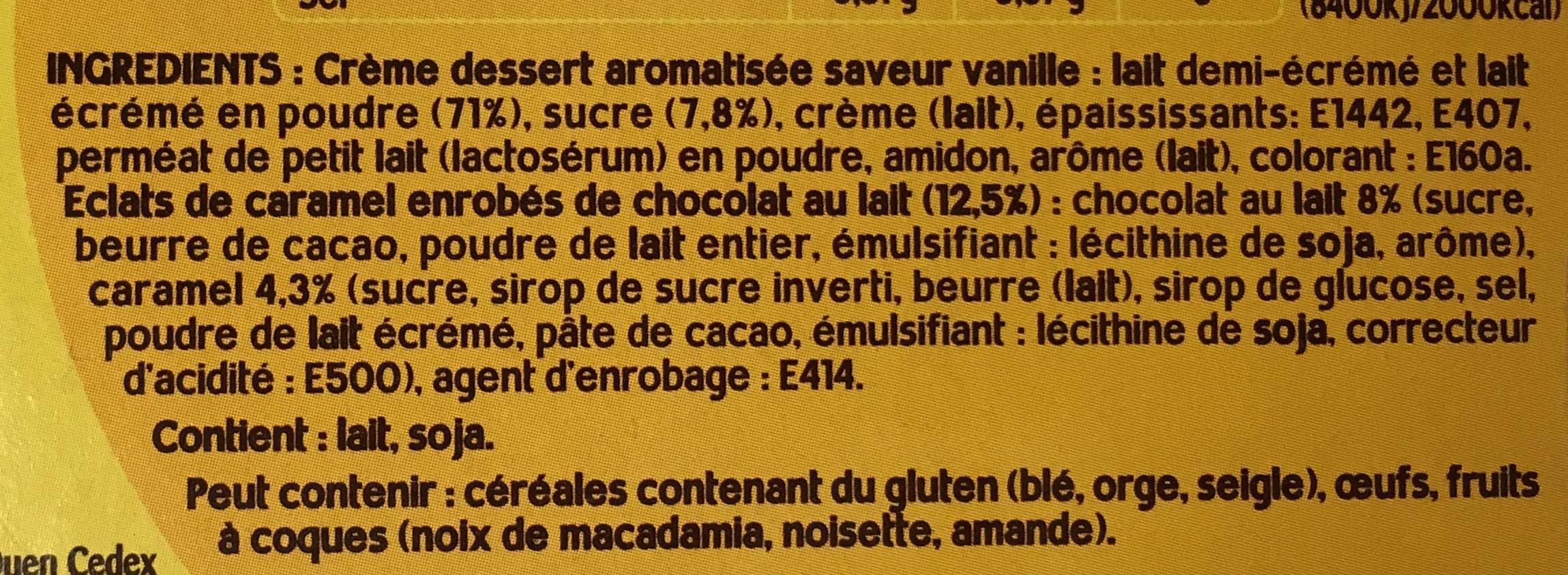 Danette Pop saveur Vanille Billes Choco Caramel Salé - Ingredienti - fr