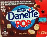 Danette Pop Chocolat Billes 3 Chocos - Product