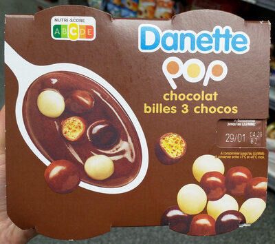 Danette Pop Chocolat Billes 3 Chocos - Product - fr