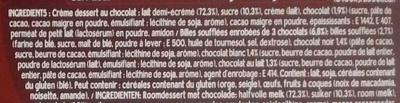 Danette Pop Chocolat Billes 3 Chocos - Ingrediënten