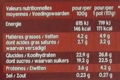 Danette Pop Chocolat Billes 3 Chocos - Voedigswaarden