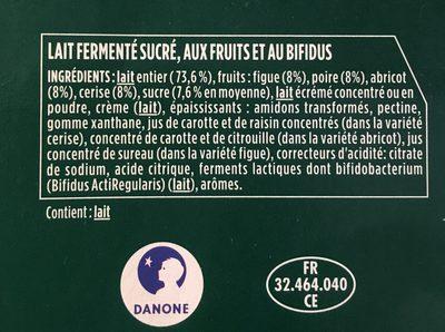 Activa - Ingrédients - fr