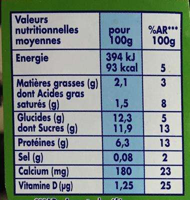 Gervais Maxi saveur Fraise - Informations nutritionnelles - fr