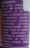 Taillefine aux fruits 0% Ananas - Ingrédients - fr