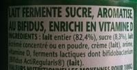 Activia Saveur Pêche - Ingrédients - fr
