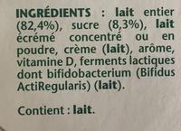 Activia saveur vanille - Ingredients