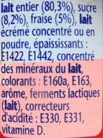 Velouté fruix, fraise - Ingrediënten