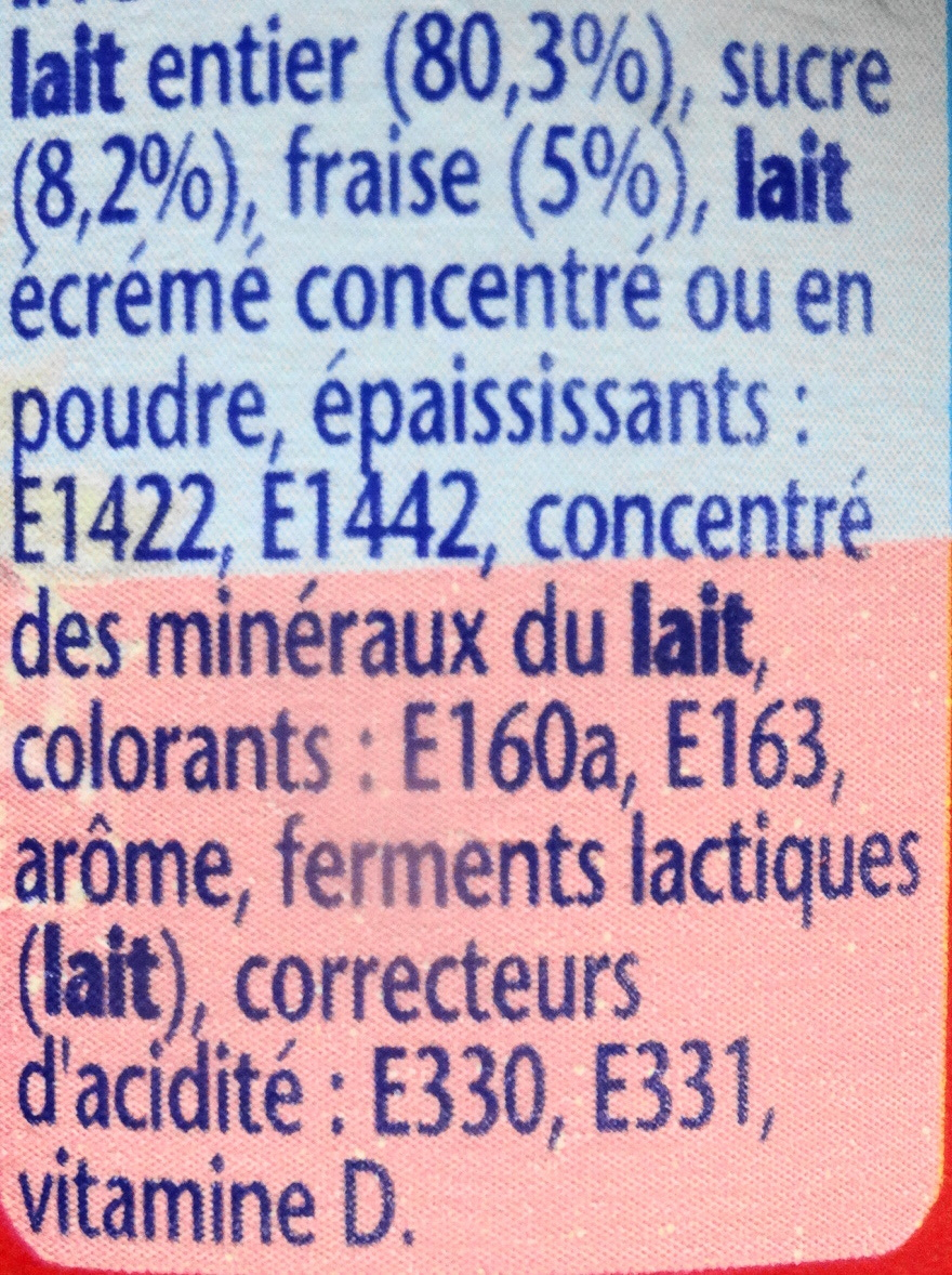 Velouté fruix, fraise - Ingrediënten - fr