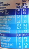 Velouté fruix, fraise - Voedigswaarden