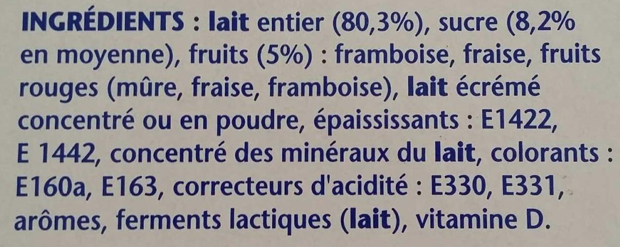 Velouté Fruix Fraise Framboise Fruits Rouges - Ingredienti - fr