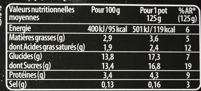 Star Wars Vanille - Nutrition facts