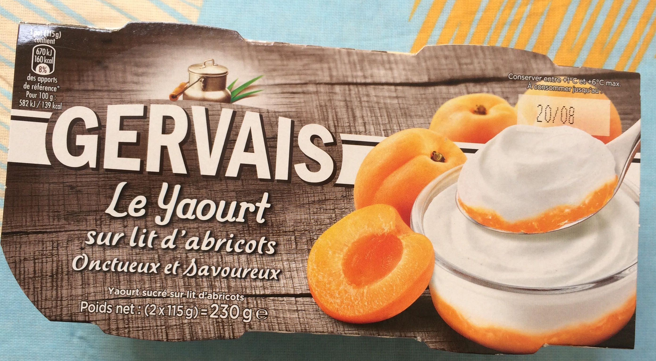 Le yaourt sur lit d'abricots - Produit - fr