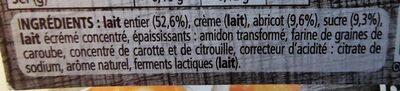 Le yaourt sur lit d'abricots - Ingrédients - fr