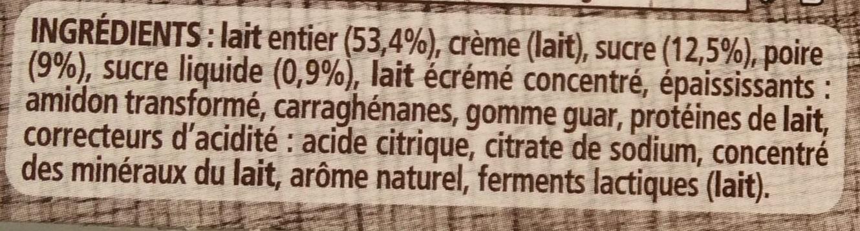 Le yaourt sur lit de poires - Ingrédients - fr