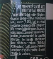 Activia, au Bifidus - Ingredients