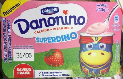 Danonino Superdino saveur Fraise - Prodotto - fr