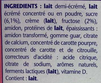 Danonino Superdino saveur Fraise - Ingredienti - fr