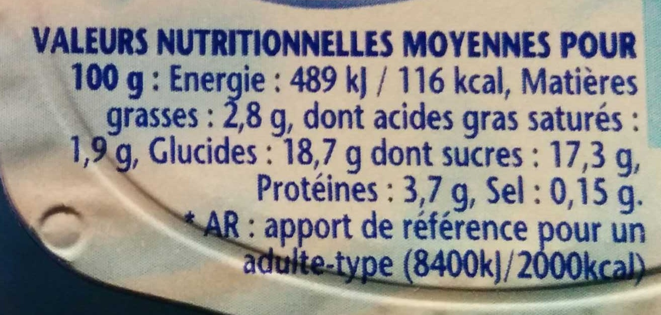Dany Chocolat - Informations nutritionnelles - fr