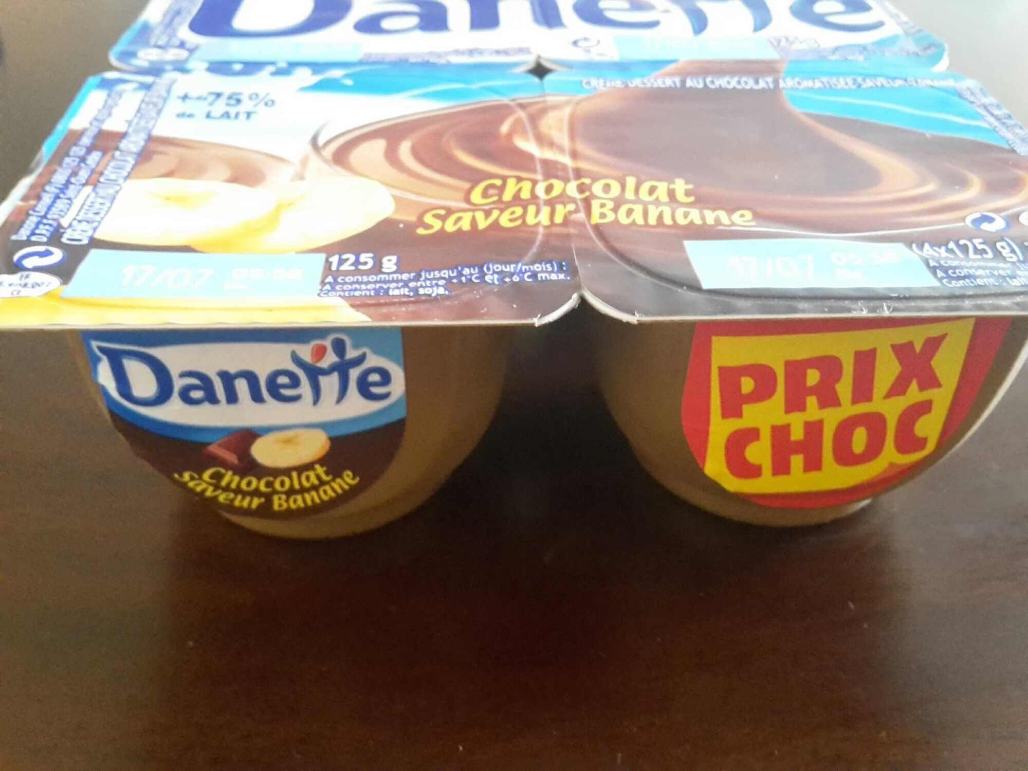 Danette Chocolat saveur Banane (Prix choc) - Produit - fr