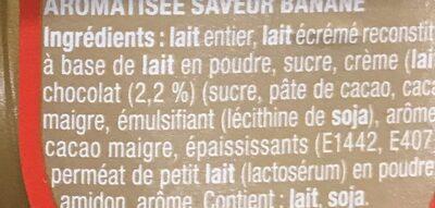 Danette Chocolat saveur Banane (Prix choc) - Ingrédients - fr