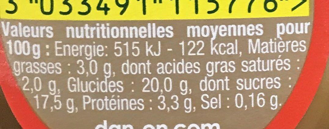 Danette Chocolat saveur Banane (Prix choc) - Informations nutritionnelles - fr