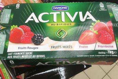 Activia Fraise Framboise Fruits rouges - Produit - fr