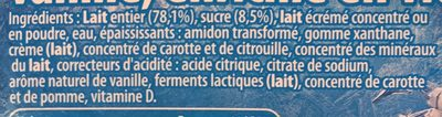 La Reine des Neiges Vanille - Ingredienti - fr