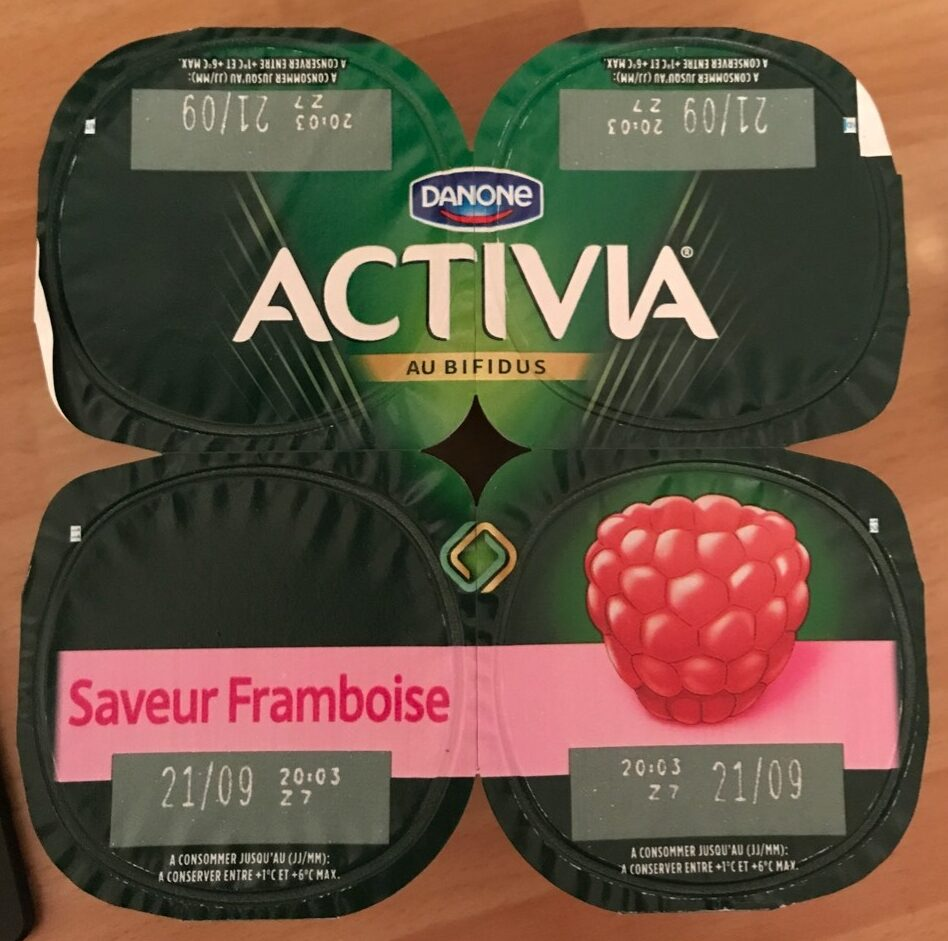 Yaourts saveur framboise Activia - Product