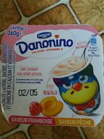 Danonino framboise-pêche - Prodotto - fr