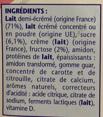 Danonino framboise-pêche - Ingredienti - fr