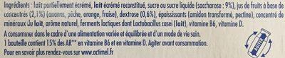 Actimel multifruits - Ingredients - fr