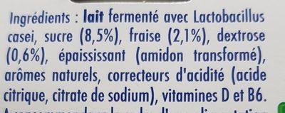 Actimel Gout Fraise - Ingredients