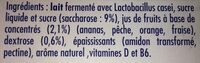 Actimel Gout Multi Fruits - Zutaten - fr