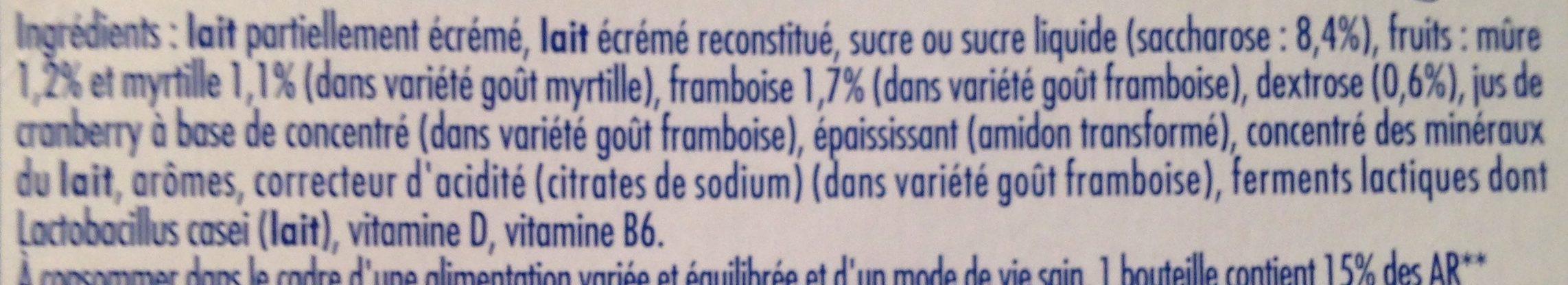 Actimel Goût Myrtille et Goût Framboise - Ingrédients - fr