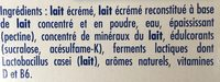 Actimel 0% - Zutaten - fr