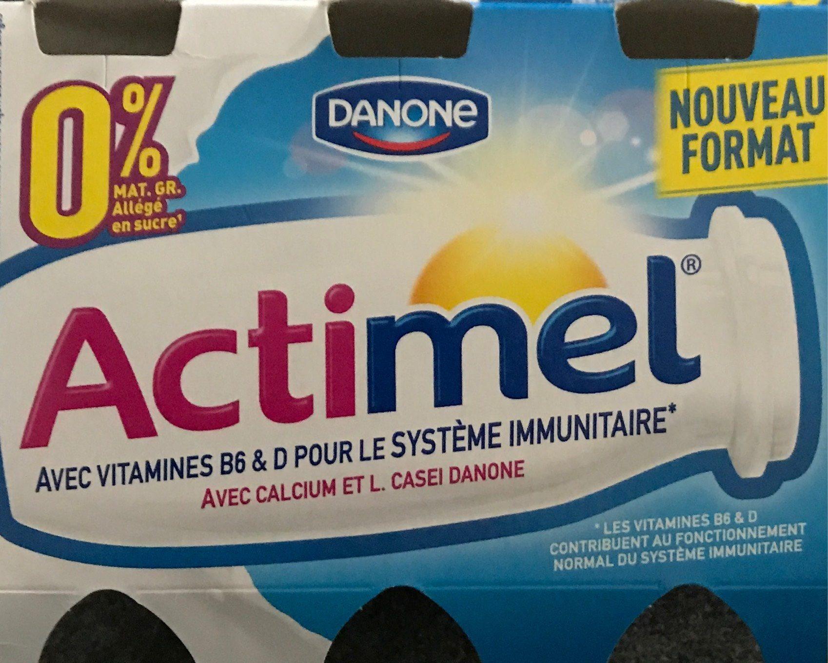 Actimel 0% - Nährwertangaben - fr