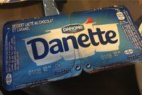 Danette Crème dessert chocolat/caramel les 4 pots de 125 g - Produit - fr