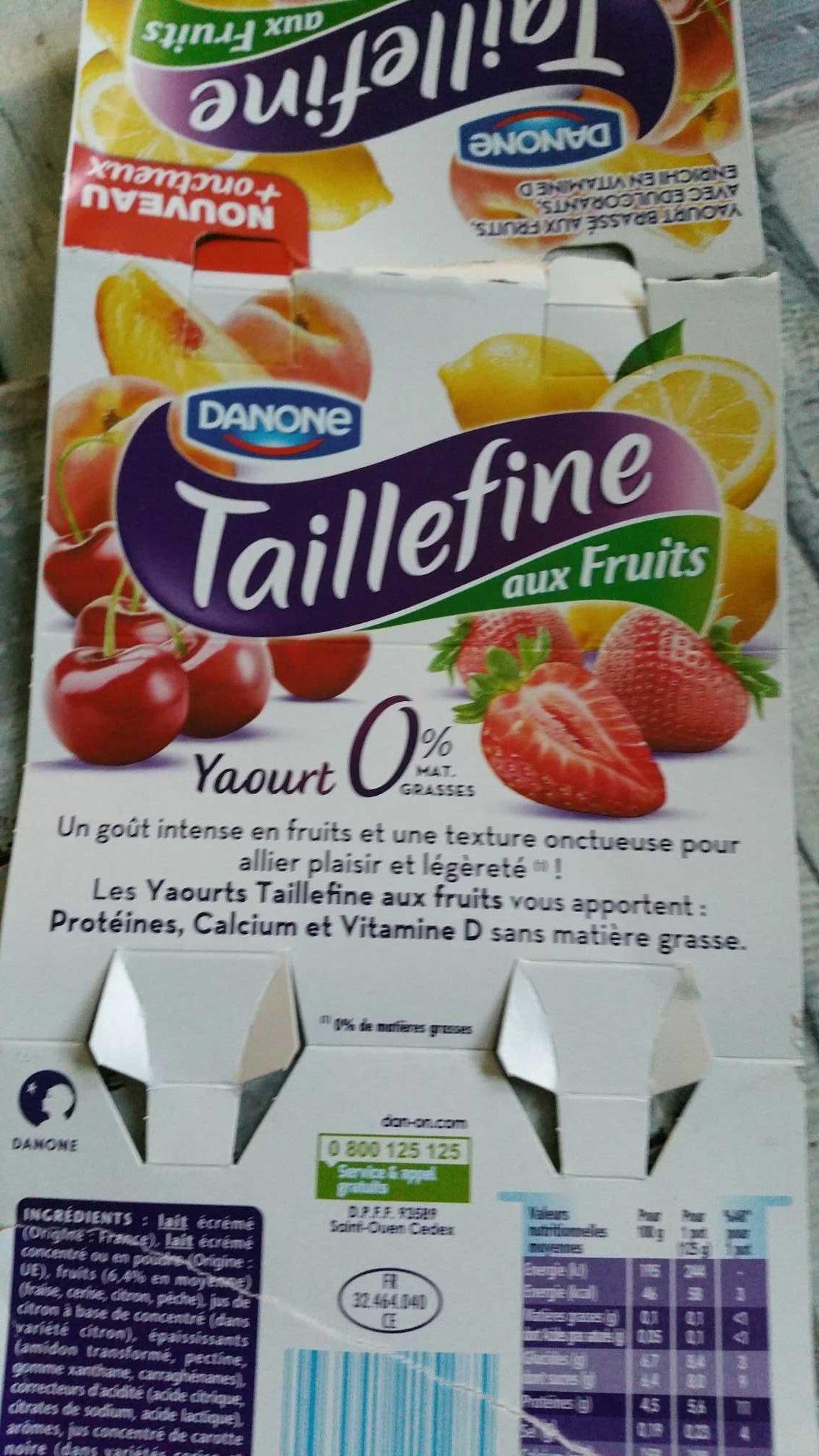Taillefine Fruits Panaché Fraise, Cerise, Citron, Pêche - Prodotto - fr