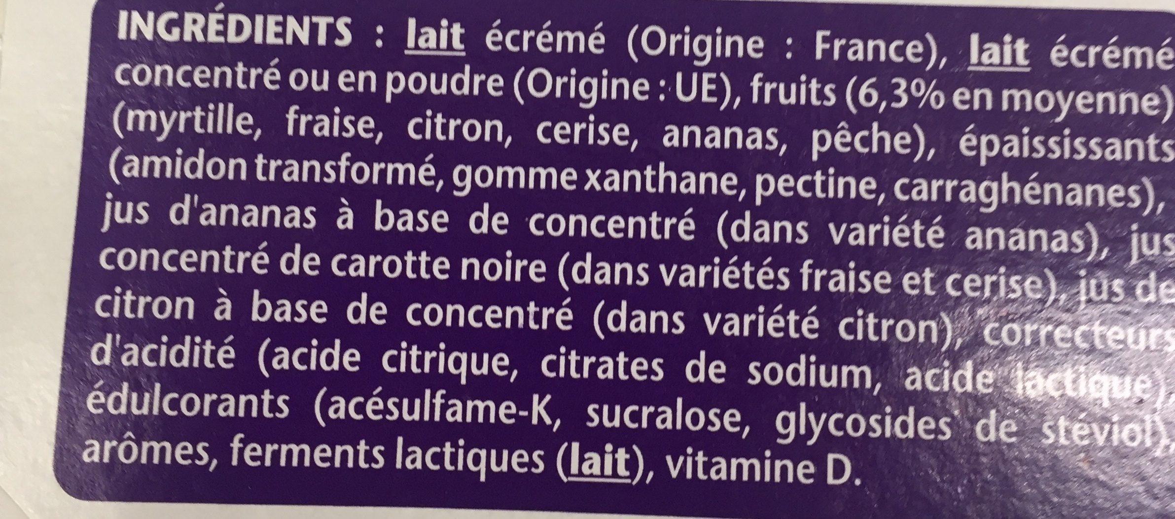 Yaourt taillefine aux fruits - Ingredienti - fr