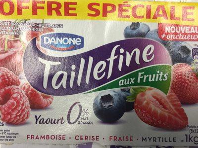 Taillefine au fruits Framboise Cerise Fraise Myrtille (offre spéciale) - Prodotto - fr